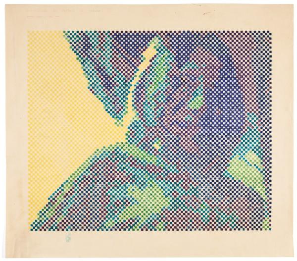 WALDEMAR CORDEIRO, Digitalização do retrato de Fabiana, 1970