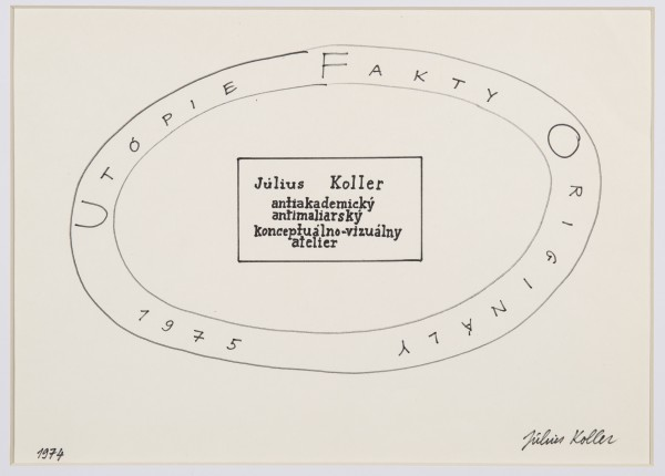 JULIUS KOLLER, Untitled (Utopie), 1975