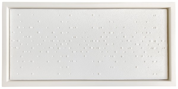 GERHARD VON GRAEVENITZ, Versuch II, 1959 Painted plaster relief 21.8 x 49 cm 8 ⅝ x 19 ¼ inches