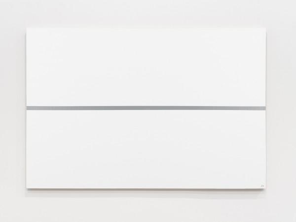 JOSIP VANIŠTA, Silver line on a white surface, 1968‒1997