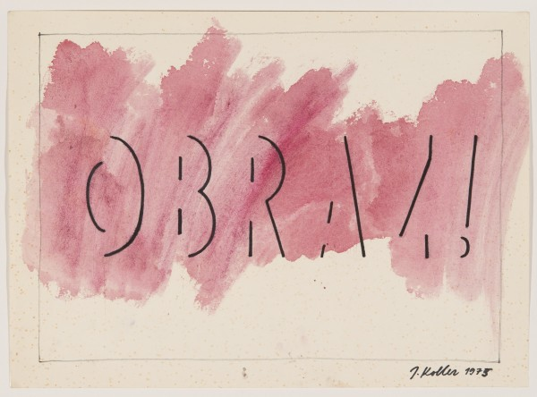 JULIUS KOLLER, Untitled (Obraz!), 1975