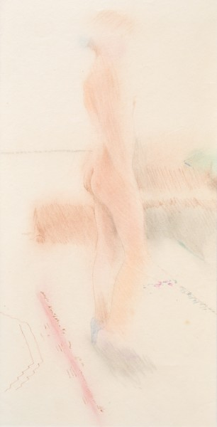 91a, 1977 Coloured crayon on paper 40 x 22 cm 15 ¾ x 8 ⅝ inches