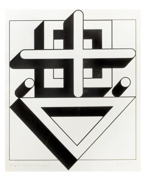 IMRE BAK, Square-Cross-Triangle, 1977