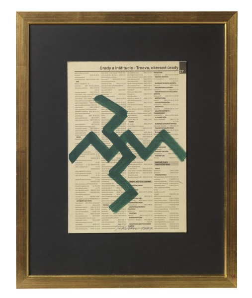 JULIUS KOLLER, Untitled (Newsprint), 1997