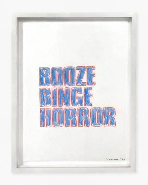 SARAH MORRIS, Booze Binge Horror, 1996 Crayon gras sur papier calque 30 x 21 cm 11 7/8 x 8 1/4 inches £6,000.00