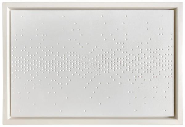 GERHARD VON GRAEVENITZ, Horizontale Verteilung II, 1959 Painted plaster relief 32 x 49.5 cm 12 ⅝ x 19 ½ inches