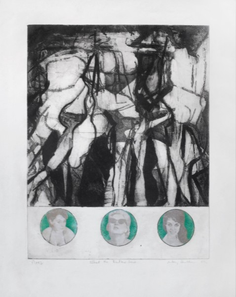 ANTONY DONALDSON, What the butler saw, 1962 Etching with newspaper transfers, Unique 57.5 x 46 cm 22 5/8 x 18 1/8 inches £5,000.00