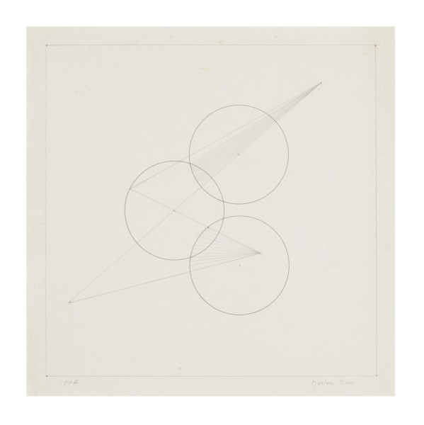 MARLOW MOSS, Work on paper no. 13, 1944 Ink on paper 29.3 x 27 cm 11 ½ x 10 ⅝ inches