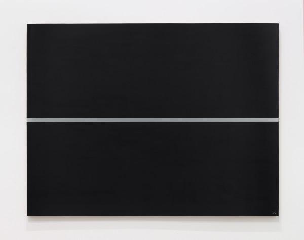 JOSIP VANIŠTA, Silver line on a black surface, 1964‒1997
