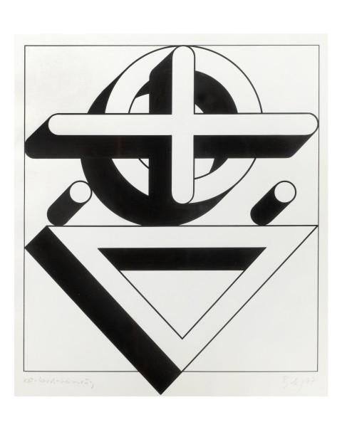 IMRE BAK, Circle-Cross-Triangle, 1977