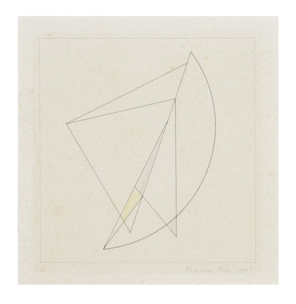MARLOW MOSS, Untitled (Work on paper, no.3), 1943 Ink on paper 19.5 x 19 cm 7 ⅝ x 7 ½ inches
