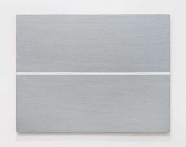 JOSIP VANIŠTA, White line on a silver surface, 1968‒1997