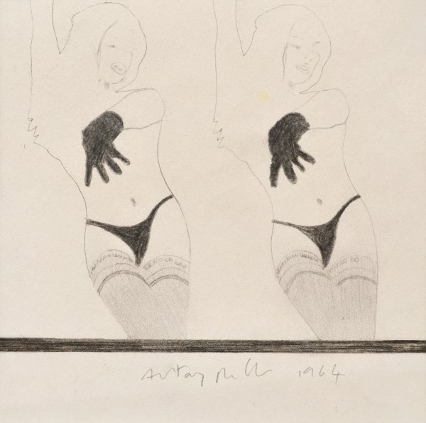 That'll be the day, 1964 Pencil and carbon on paper 21 x 21 cm 15 ¾ x 15 ¾ inches