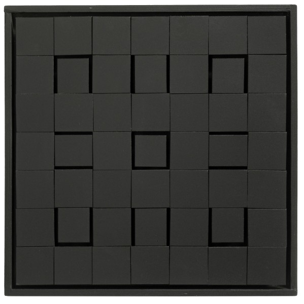 LUIS TOMASELLO, Lumière Noire No. 905, 2008 Acrylic on wood 38 x 38 x 5 cm 15 x 15 x 2 inches