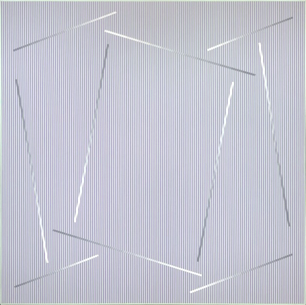 JULIAN STAŃCZAK, Within the Square, 1989 Acrylic on canvas 127 x 127 cm 50 x 50 inches