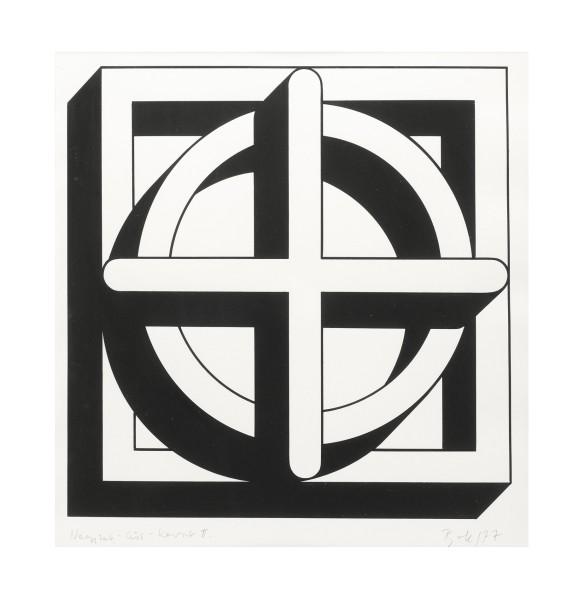 IMRE BAK, Square-Circle-Cross II, 1977