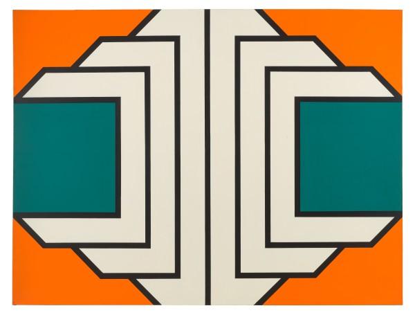 IMRE BAK, Blue, 1969 Acrylic on canvas 150 x 200 cm 59 x 78 ¾ inches