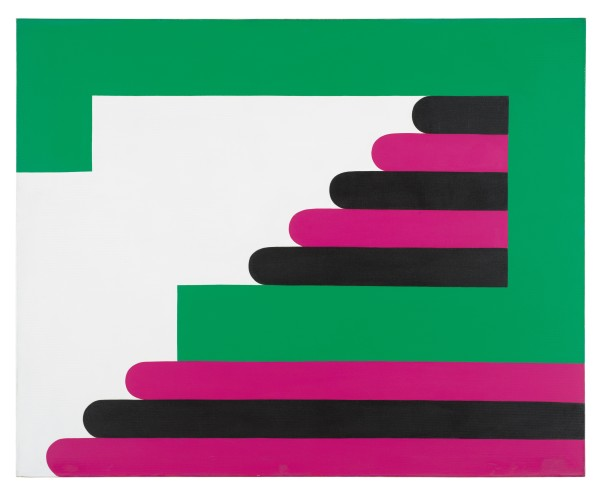 IMRE BAK, Green-Purple-Black, 1968