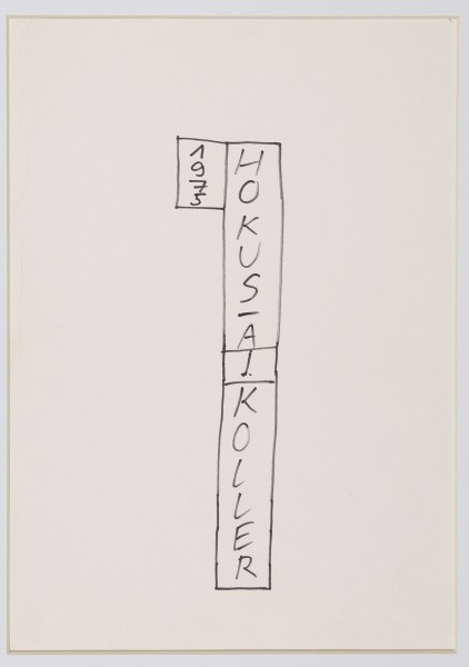 JULIUS KOLLER, Untitled (Hokusa), 1975