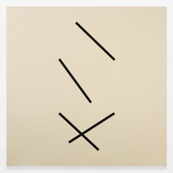 GERHARD VON GRAEVENITZ, Vier exzentrische streifen, je zwei synchron, 1976