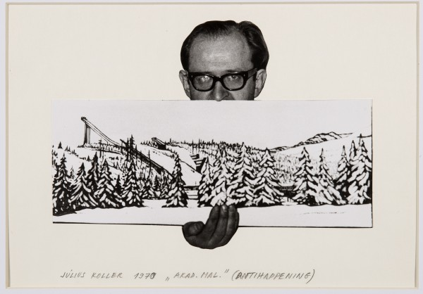 JULIUS KOLLER, Untitled (Artist with Landscape), 1970