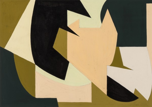 WIFREDO ARCAY, Untitled, c. 1950 Gouache and ink on paper 16 x 23 cm 6 ¼ x 23 inches