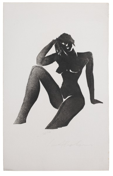 IVOR ABRAHAMS, Naiades series, 1980 Set of 4 unique prints, monotype on paper 45 x 29 cm 17 3/4 x 11 3/8 inches £3,000.00