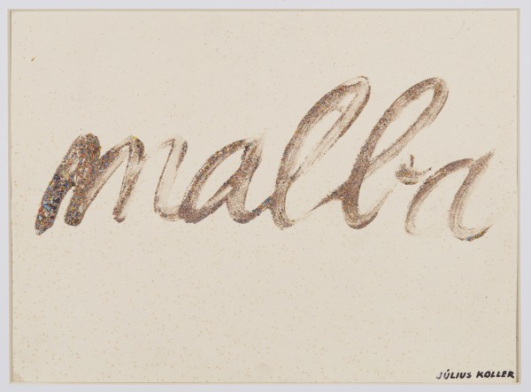 JULIUS KOLLER, Untitled (Malba)