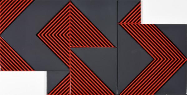 KÁLMÁN SZIJÁRTÓ, Untitled (Grey-Red), 1970
