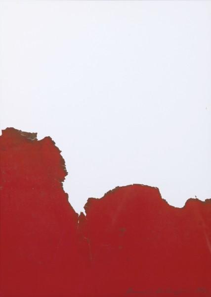 BERNARD AUBERTIN Cage Rouge de Fumee, 1974 Gouache brulee 60 x 45 cms (23 5/8 x 17 3/4 in) £4,700