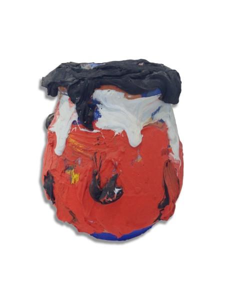 BRAM BOGART Vase, 1990 Mixed media 29 x 24 x 15 cm (11 1/2 x 9 1/2 x 6 in) £10,000