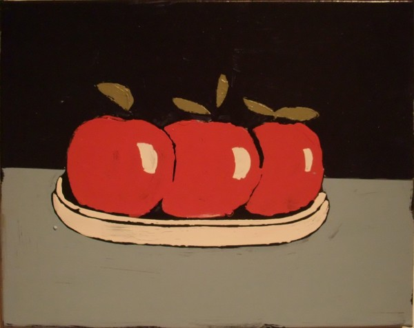 FONS HAAGMANS Pomegranate, 2009 Household emulsion on canvas 40 x 50 cm (15 3/4 x 19 3/4 in) £5,000
