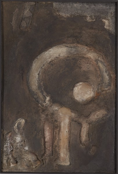 ROBERT MALLARY, Untitled, 1957-1958 Mixed media: Resin mix and pigment with an artist made wooden frame 46 x 31 ½ x 2 ¼ in 117 x 80 x 5.7 cm