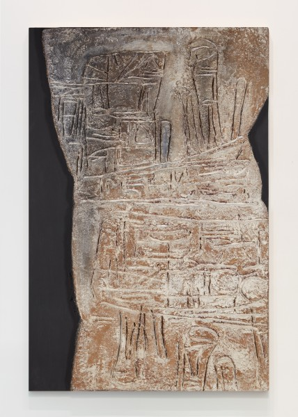 ROBERT MALLARY, Amerigo, 1958 Mixed media: Resin mix and pigment on wooden board 69 ¾ x 47 x 4 in 177 x 119 x 10 cm