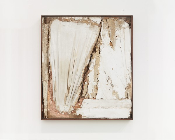 ROBERT MALLARY, Untitled, 1957-1958 Mixed media: Found materials bound with plaster with a wooden frame 29 ½ x 26 x 3 ½ in 75 x 66 x 9 cm