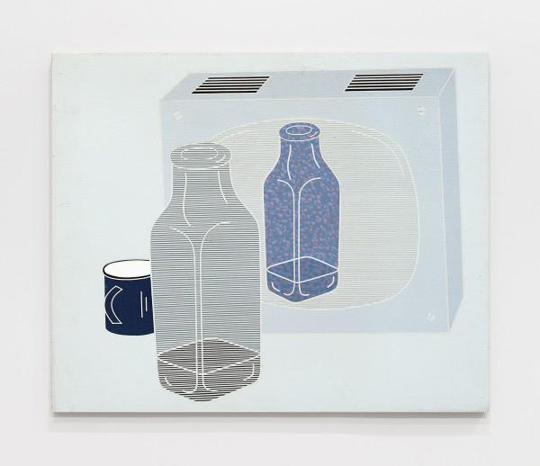 Circuito Chiuso. La Bottiglia / Closed Circuit. The Bottle 1969 Acrylic on canvas 60 x 73 cm 23 ⅝ x 28 ¾ inches