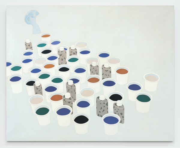 Paesaggio nello studio. Color & Co. / Landscape in the Studio 1970 Acrylic on canvas 51 1/8 x 63 inches (130 x 160 cm)