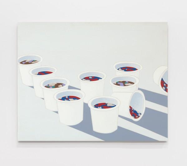 Paesaggio nello studio / Landscape in the Studio 1970 Acrylic on canvas 28 3/4 x 36 1/4 inches (73 x 92 cm)
