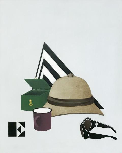 Viaggio in Italia / I Travel to Italy, 1971 Acrylic on canvas 81 x 65 cm 31 ⅞ x 25 ⅝ inches