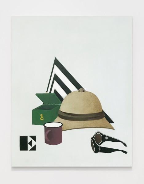 Viaggio in Italia / I Travel to Italy 1971 Acrylic on canvas 81 x 65 cm 31 ⅞ x 25 ⅝ inches