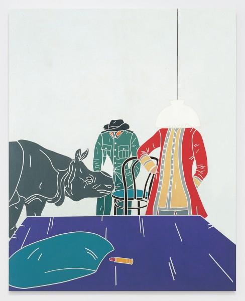 Vita di Voltaire. Interno / Voltaire Life. Internal 1968 Acrylic on canvas 162 x 130 cm 63 ¾ x 51 ⅛ inches