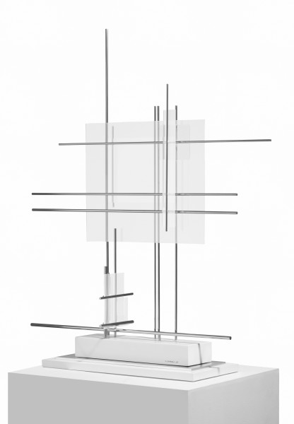 CARLOS CAIROLI, Structure spatiale, 1957 Altuglas and steel 100 x 72 x 24 cm 39 ⅜ x 28 ⅜ x 9 ½ inches