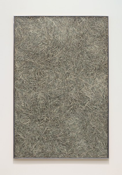 JAN HENDERIKSE, Untitled, c. 1979 Shredded dollar bills in frame 40 1/4 x 26 3/4 inches (102 x 68 cm)