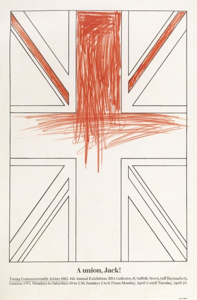 BILLY APPLE, A Union, Jack!, 1962 Offset lithography on paper, edition of 100 76.3 x 50.7 cm 30 x 20 inches