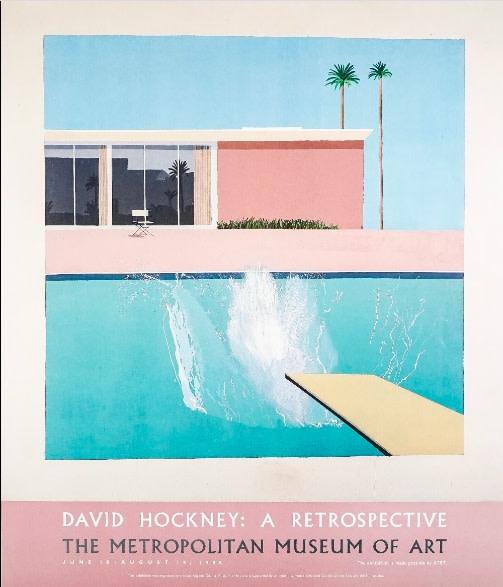 David Hockney, 'A Bigger Splash' A Retrospective Metropolitan Museum of Art, 1988