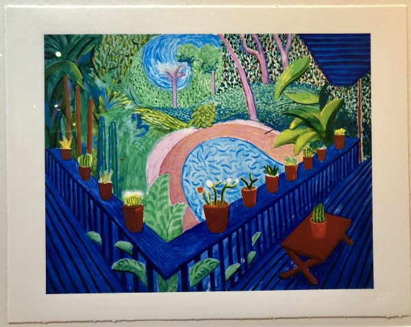 David Hockney, DAVID HOCKNEY 'RED POTS IN THE GARDEN' TATE PORTFOLIO EDITION, 2017, 2017