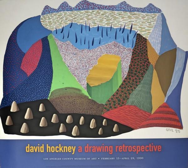 David Hockney, David Hockney A Drawing Retrospective, 1996