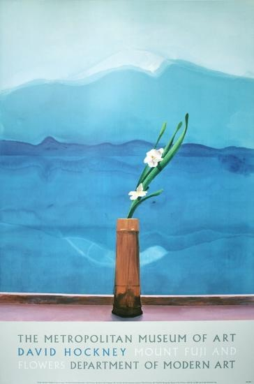 David Hockney, David Hockney Original Poster Metropolitan Museum 'Mount Fuji with Flowers' , 1988