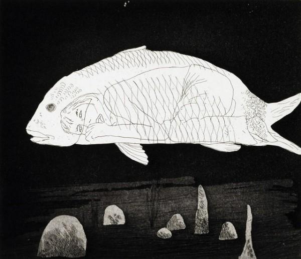David Hockney, The Boy Hidden in a Fish, 1969