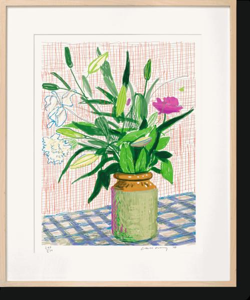 David Hockney, A Bigger Book. Art Edition D, iPad 516, 2016